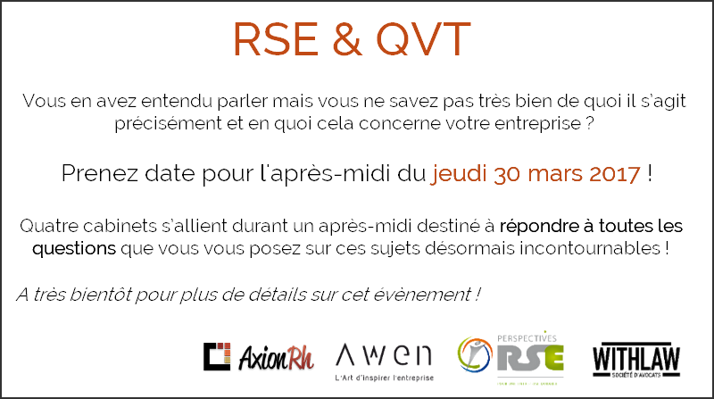 RSE & QVT -  30 Mars 2017 à Rennes